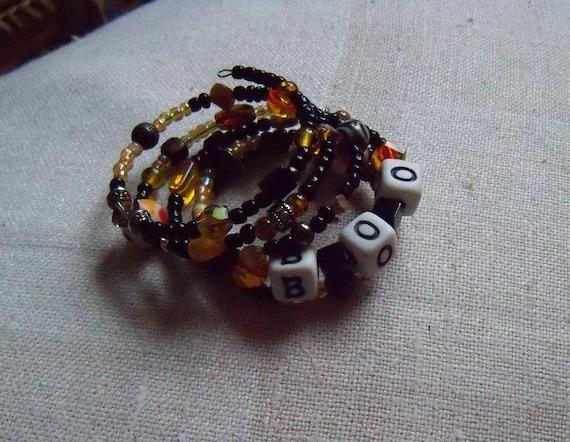 FREE US SHIPPING Boo Halloween Autumn Wrap Bracelet Feminine