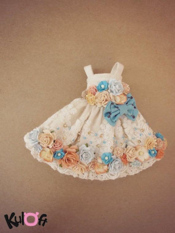 Flowers dress bow