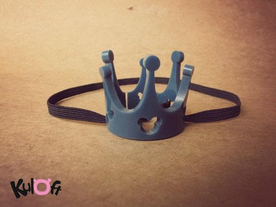 Qpot crown clear dark blue