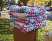 Knitted Dishcloths Washcloths Facecloths Cotton Quilt Colors- Ready To Ship