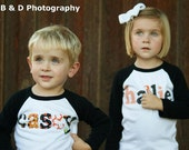 Halloween Shirt - Personalized Name Shirt - You Choose Color and Sleeve Length -