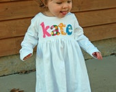 Personalized Dress with Name - You Choose Dress Color and Sleeve Length