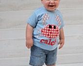 Crab Shirt - Summer Shirt - Beach Shirt - Toddler Boy Summer Shirt- You Choose Shirt Color, Sleeve Length