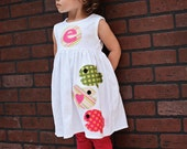 Fish Dress - Summer Dress- Personalized Dress- You Choose Dress Color and Sleeve Length