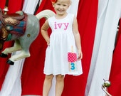 Cupcake Dress - Birthday Personalized Dress - You Choose Dress Color and Sleeve Length