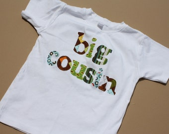 Cousin Shirt -Big Cousin Announcement - Choose Shirt Color and Sleeve Length - Perfect for Pregnancy Announcement, Baby Shower Gifts