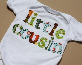Little Cousin Shirt - Choose Shirt Color and Sleeve Length - Perfect for Family Pics, Pregnancy Announcement, Baby Shower Gift
