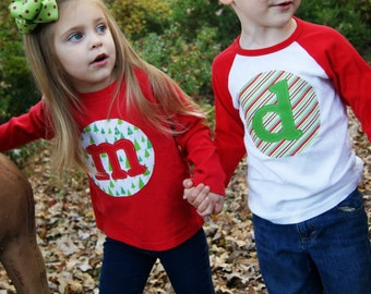 Personalized Christmas Shirt - Custom Holiday Shirt- You Choose Fabrics, Shirt Color and Sleeve Length