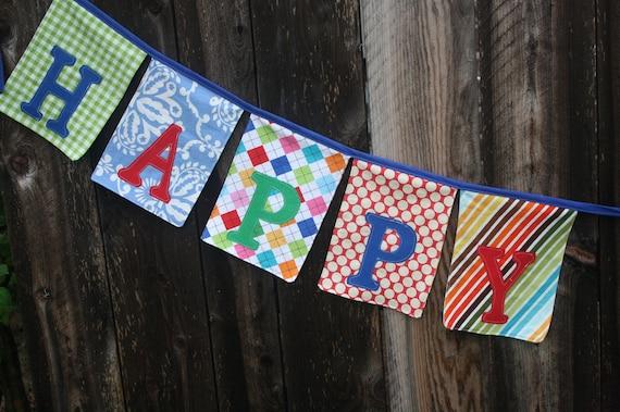 Happy Birthday Banner Bunting Garland