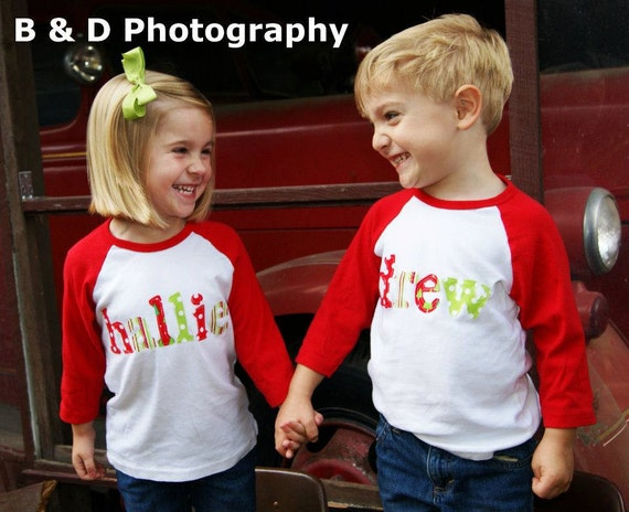 ChristmasT-Shirt - Personalized Holiday Name Shirt - Perfect for Pictures or Photoshoot