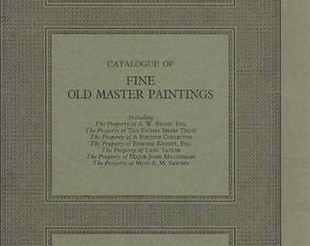 Art Book, Sotheby's Art Auction, Catalog, Fine Old Master Paintings, 17th 18th C, Books,  Old Books, Book Lovers