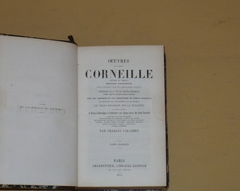 Le Cid, By Corneille Pierre et Thomas, 1865, French, Books Movies Music, Books, Plays Theater, Antique Books,
