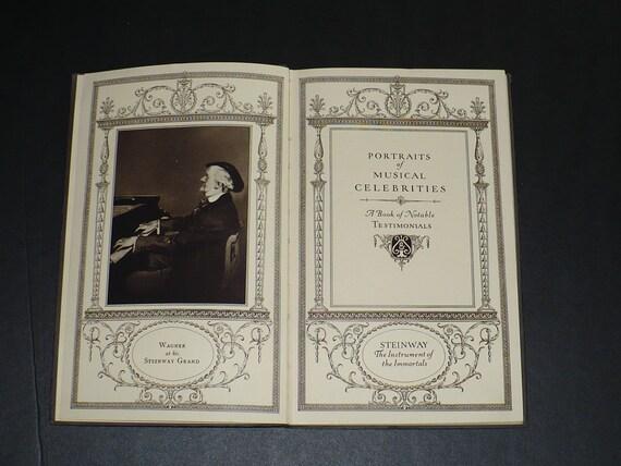 Piano Steinway Musical Celebrities Portraits 1922 Eminent Artists