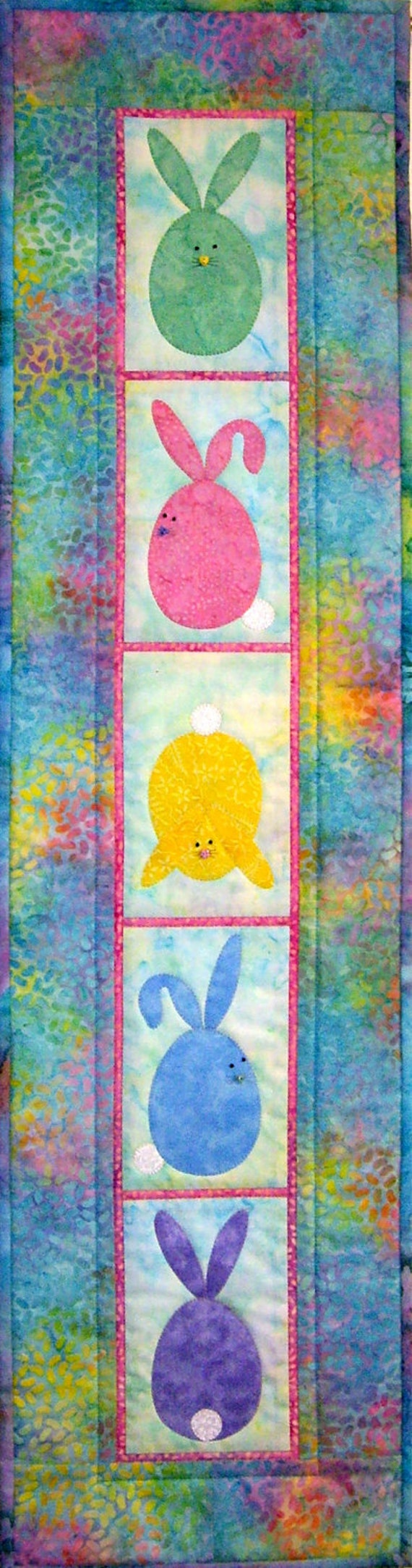 Bunny Quilted Wall Hanging 4325 4 Easter Wall Quilt Bunny