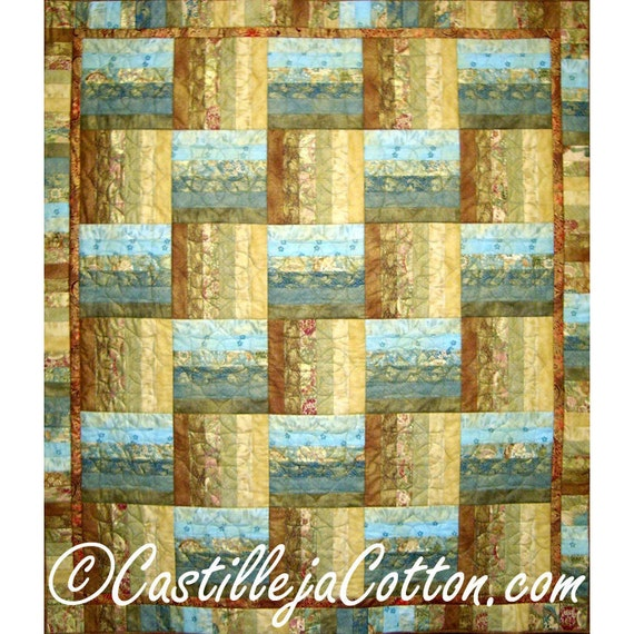 Quilted Wall Hanging or Lap Quilt - Asian Fusion Quilt - On Sale
