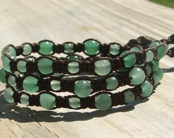 Chic  Bohemian hand tied beaded Wrap Bracelet