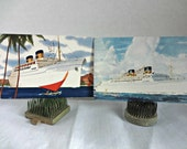 Vintage Cruise Ship Postcards, Matson Liners Mastonia and Lurline
