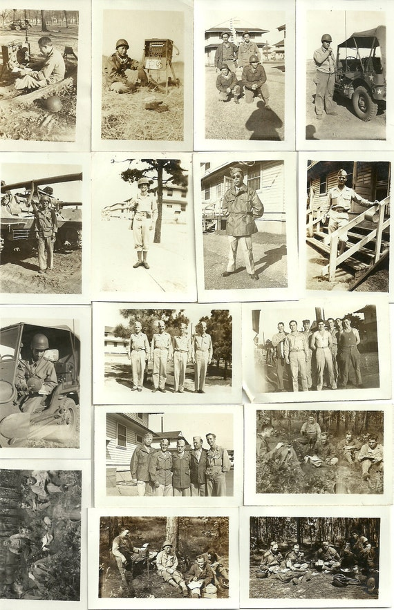 1940s Photos, WWII Soldiers at Ft. Sill and Ft. Bragg