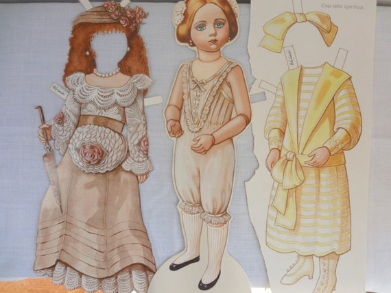 French Style Paper Doll and Clothing by Peck Gandre, A Maroque 1914 Doll