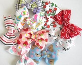 Set of 3 Printed Pinwheel Bows - Baby and Toddler Hair Bows - 39 Different Prints - Printed Hair Clips - Pinwheel Hair Bows - Toddler Bows
