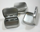 Small Mint Tins with Hinged Top and Rounded Corners - Use for your Pendants Magnets and other Gifts Favors and Goodies - 10