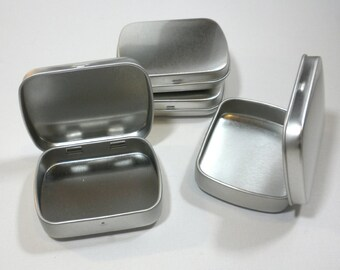 Small Mint Tins with Hinged Top and Rounded Corners - Use for your Pendants Magnets and other Gifts Favors and Goodies - Just 1