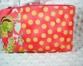 Zip Top Cosmetic Case Pouch