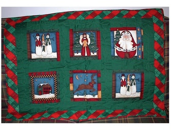 Last One Sale - Christmas Wall Quilt