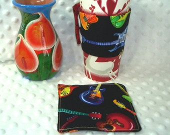 Reuseable Coffee Cup Sleeve/Cozy & Coaster Set
