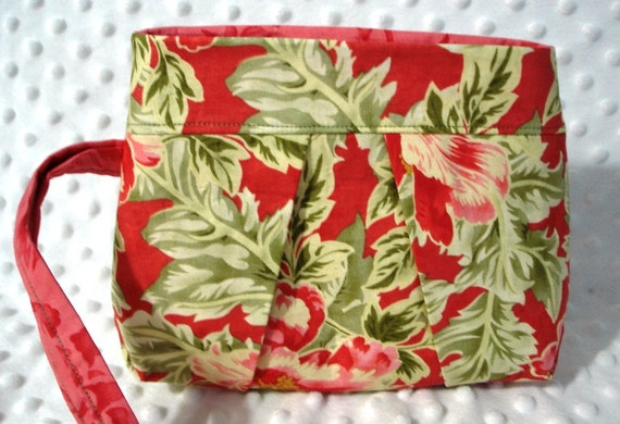 SALE Spring Leaves Wristlet Reduced Price