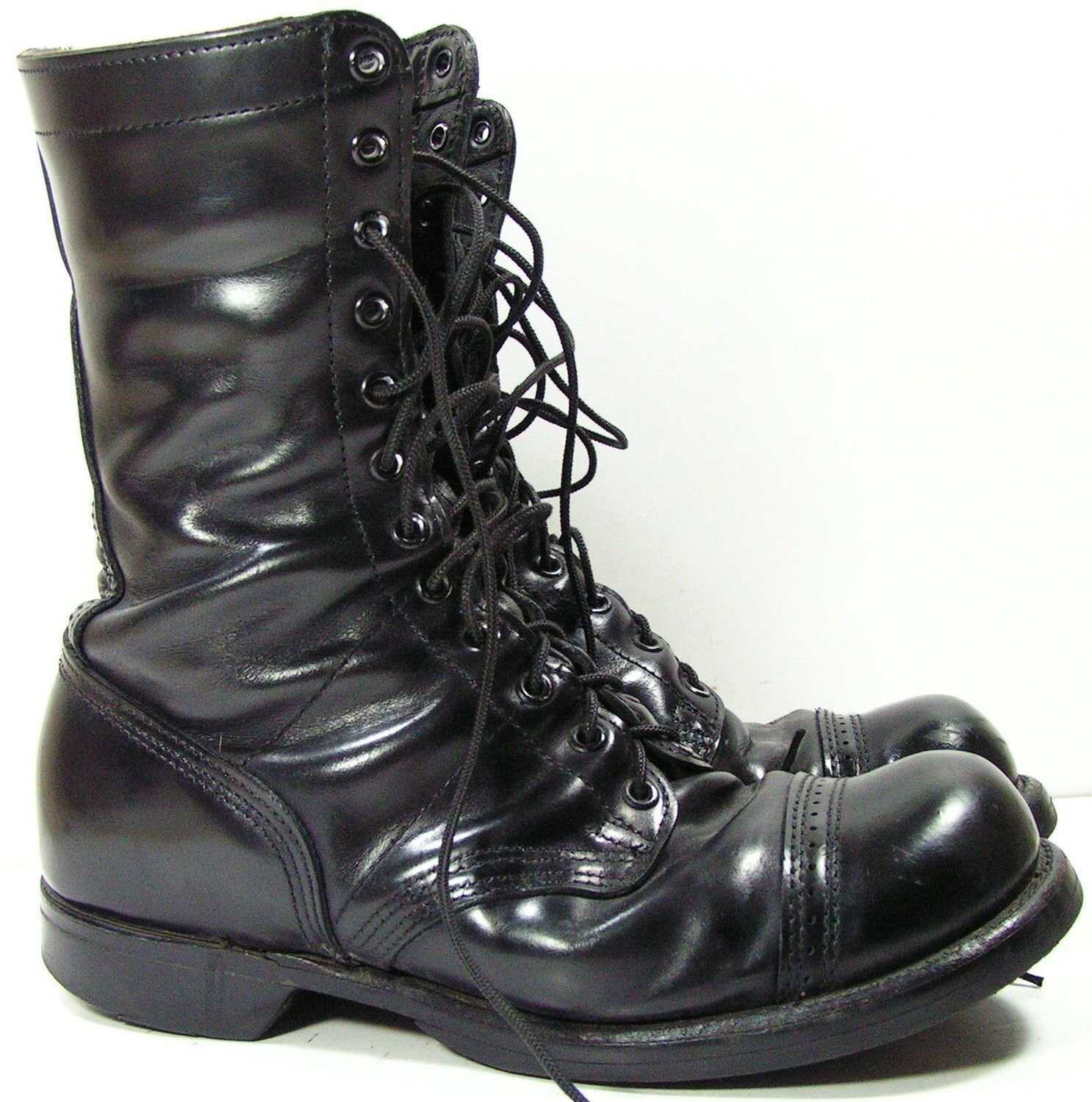 combat boots womens 10 10 5 m black leather mens 8 5 e grunge