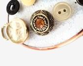 Antique Button Push Pin Set