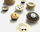 Antique Button Magnet Set