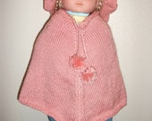 baby poncho and hat set
