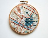 Florence Italy Map Embroidered