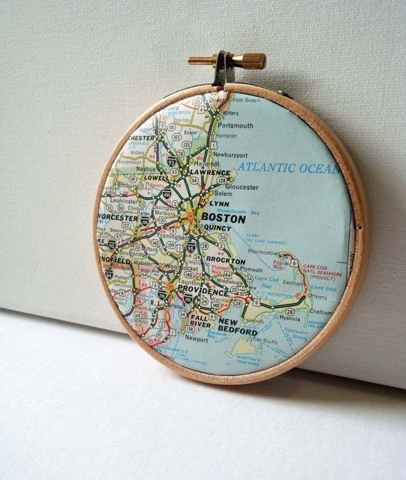 Boston Map in Hoop