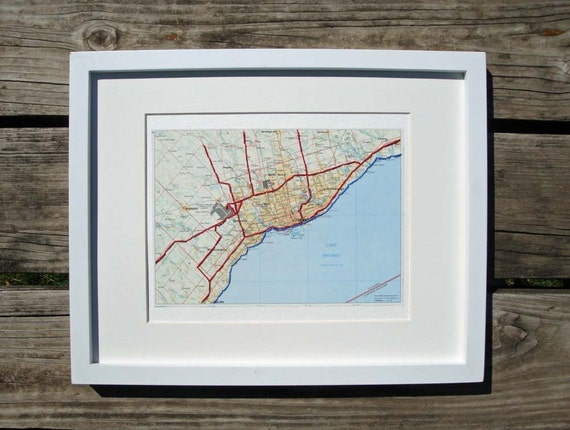 Toronto Map Embroidered