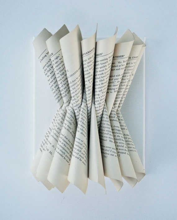 Folded Paper Book Sculpture