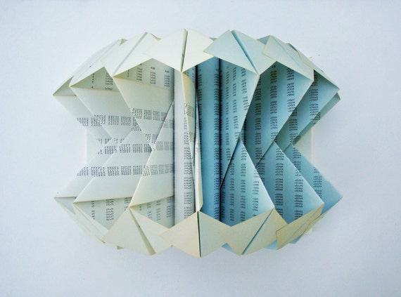 Folded Book Art Sculpture
