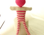 Pink striped doll - Bonhomme