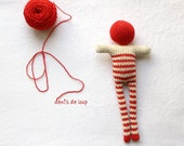 red striped doll - bonhomme