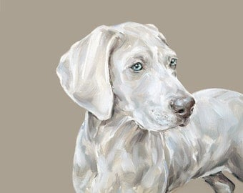 Weimaraner dog  art print - Ltd. Ed Collectable dog print
