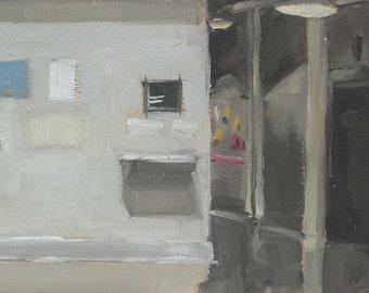Baltimore MICA Gallery Hallway Original Oil Painting