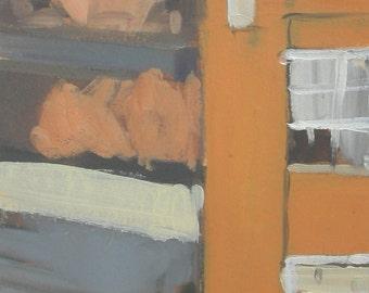 Baltimore Autumn Sunny Day MICA Fox Building Original Oil Painting
