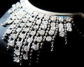 crystal glass fringe necklace bkl014