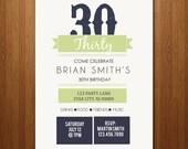 21st, 30th, 40th, 50th Birthday Party Invitation - any age