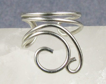 Silver Mini Swirls Ear Cuff