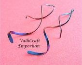 Handmade, Niobium Swirl, Corkscrew Twisted Earrings
