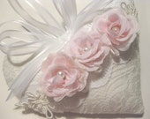 Lavender Sachet Heart with Pink Roses