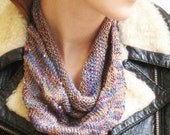 Luscious Plum hand knit silk neckerchief